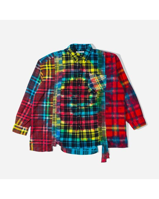 Needles Multicolor Tie Dye Rebuild 7 Cuts Shirt for men