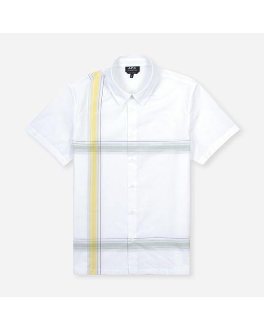 A.P.C. White Chemisette Leandre Shirt for men