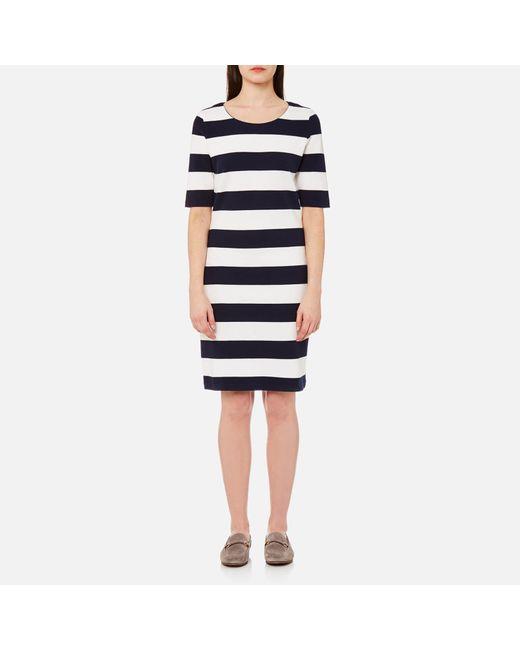 Gant - Blue Barstripe Pique Dress - Lyst