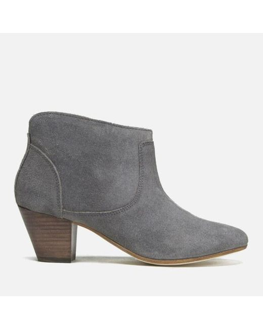 H by Hudson | Gray Kiver Suede Heeled Ankle Boots | Lyst