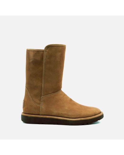 Ugg | Brown Abree Short Ii Classic Luxe Sheepskin Boots | Lyst