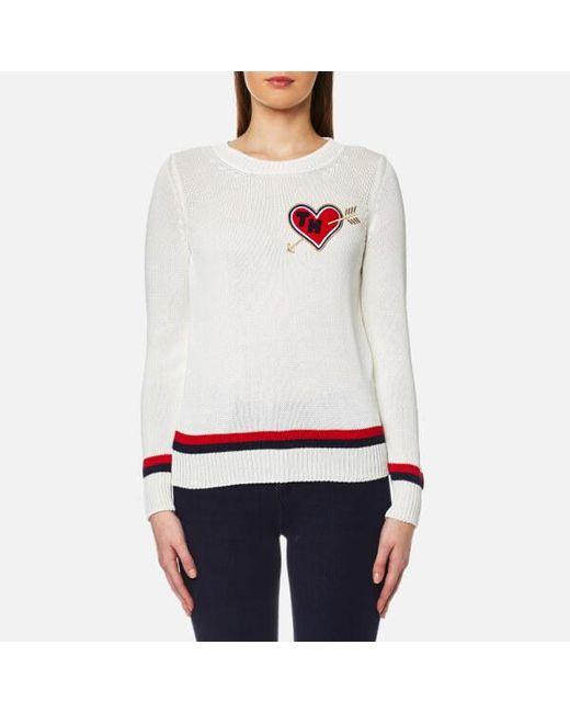 Tommy Hilfiger | White Estro Tipping Sweatshirt | Lyst