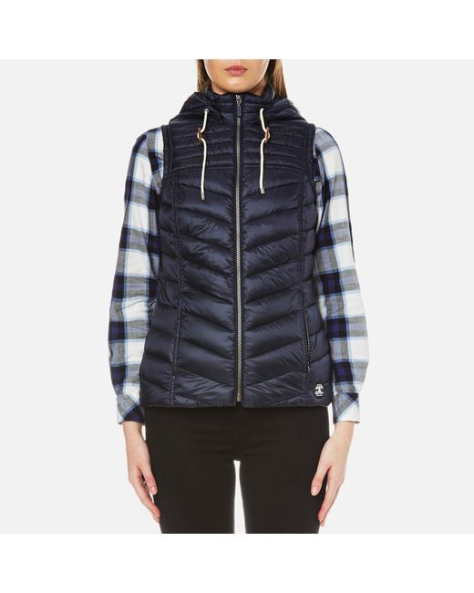Barbour - Blue Lowmoore Quilt Gilet - Lyst