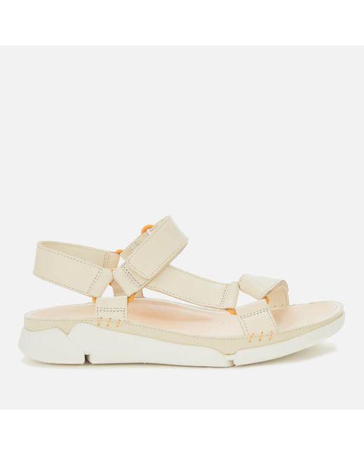 Clarks White Tri Sporty Sandals