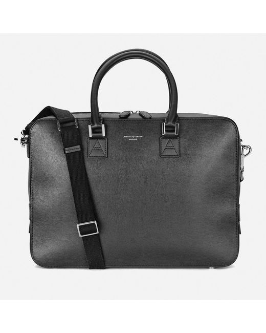 Aspinal - Black Mount Street Small Briefcase for Men - Lyst
