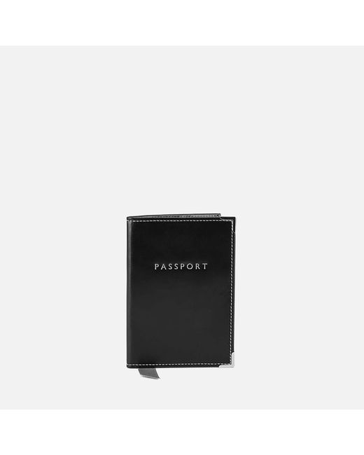 "Aspinal - Black Plain ""passport"" Cover - Lyst"