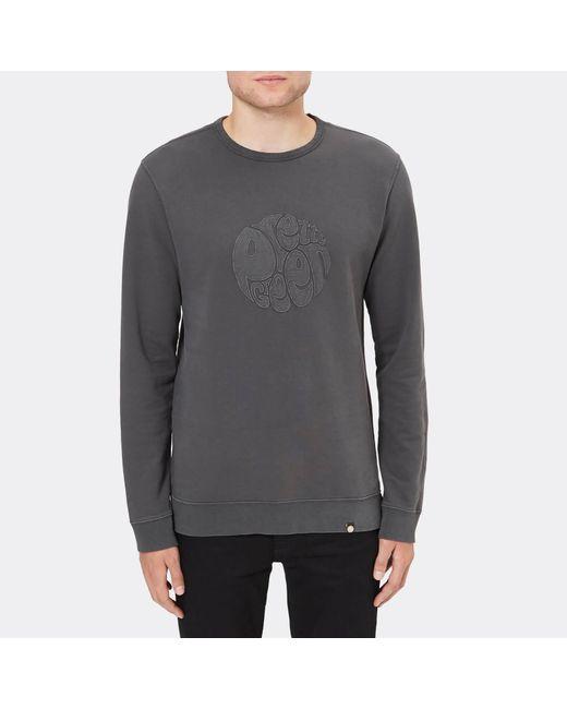 Pretty Green - Gray Havelock Applique Sweatshirt for Men - Lyst