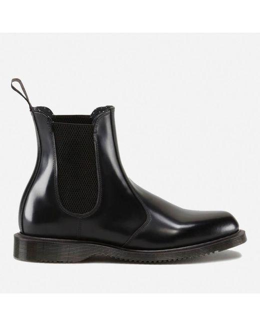 Dr. Martens Black Flora Polished Smooth Leather Chelsea Boots