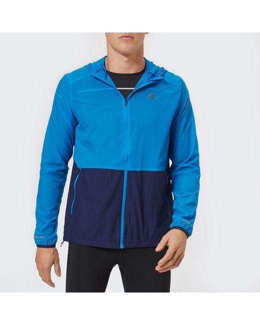 Asics - Blue Packable Jacket for Men - Lyst