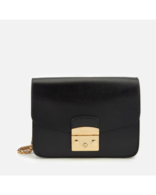 Furla Black Metropolis Small Shoulder Bag