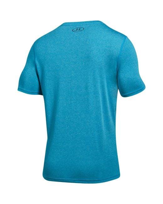 Lyst under armour threadborne fitted t shirt in blue for men for Under armour fitted t shirt