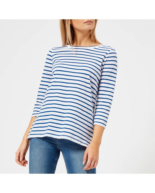 Joules - Blue Soleil Stripe Layering Top - Lyst