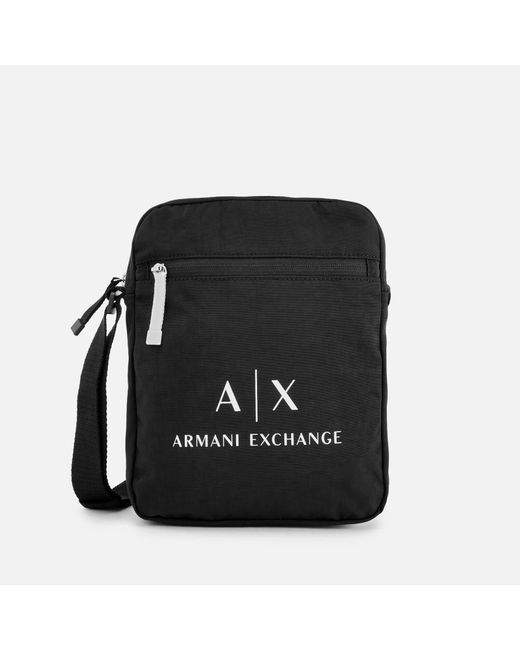 Armani Exchange - Black Contrast Logo Cross Body Bag for Men - Lyst