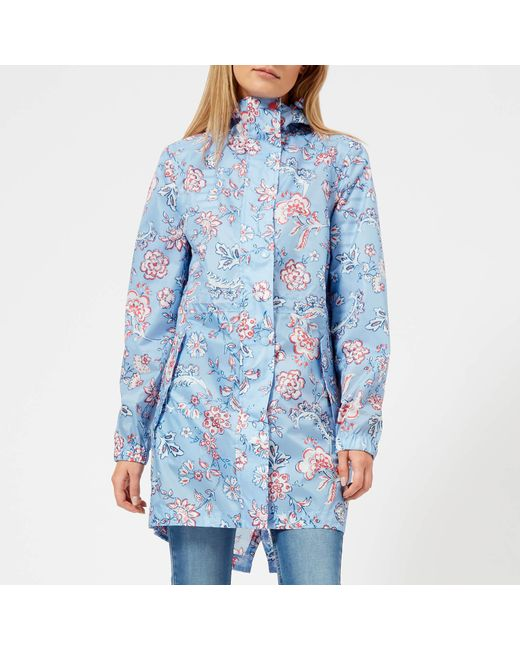 Joules - Blue Golightly Waterproof Packaway Jacket - Lyst