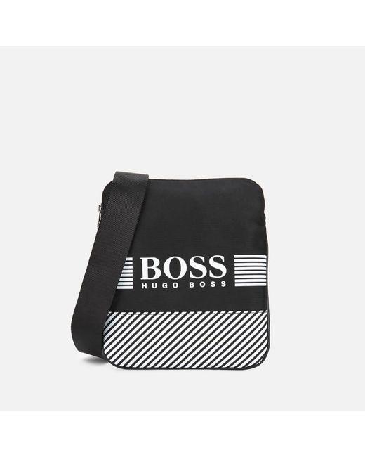 BOSS Black Pixel Envelope Cross Body Bag for men