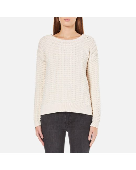 French Connection   Natural Mozart Popcorn Round Neck Jumper   Lyst