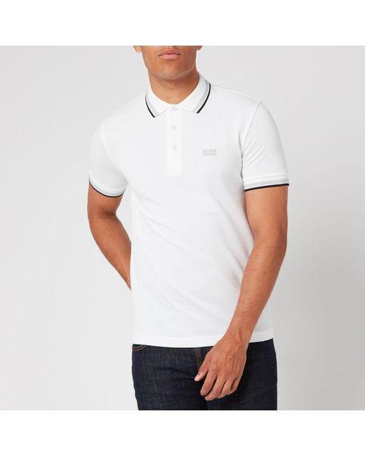 BOSS by Hugo Boss White Men's Paddy Basic Polo Shirt for men