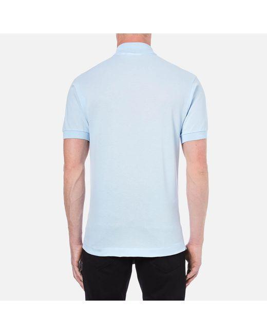 02e42820 ... Lacoste - Blue Classic Fit Pique Polo Shirt for Men - Lyst ...