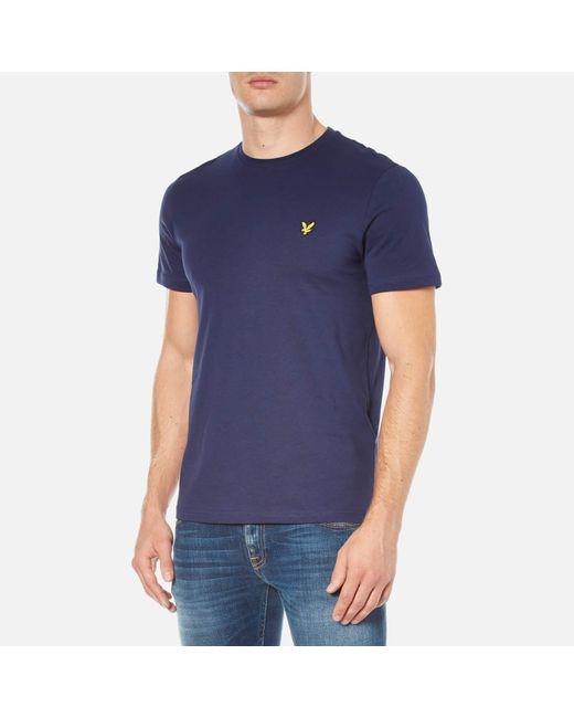 8b5f608d0 Lyle & Scott Crew Neck T-shirt in Blue for Men - Save 50% - Lyst