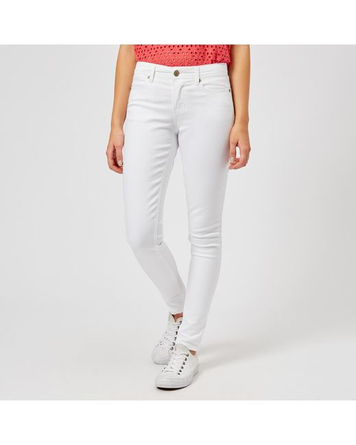 Joules - White Monroe Skinny Stretch Jeans - Lyst