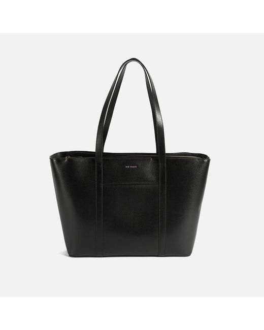 Ted Baker Black Kimiaa Saffiano Bar Detail E With Tote Bag