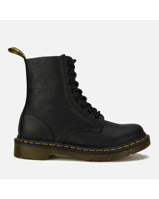 Dr. Martens Black 1460 Pascal Virginia Leather 8-eye Boots