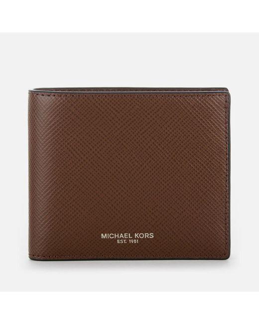 1622a5f074a412 Michael Kors - Brown Harrison Billfold Wallet for Men - Lyst ...