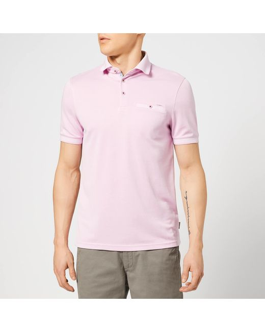 6fb01535ccc3 Ted Baker - Pink Frog Polo Shirt for Men - Lyst ...