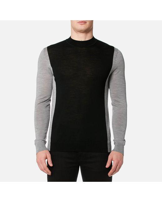 HUGO - Black Seito Knitted Jumper for Men - Lyst