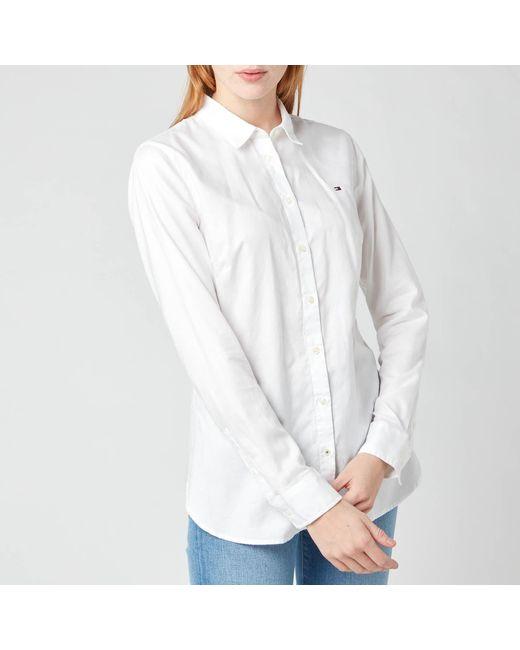 Tommy Hilfiger White Heritage Regular Fit Shirt