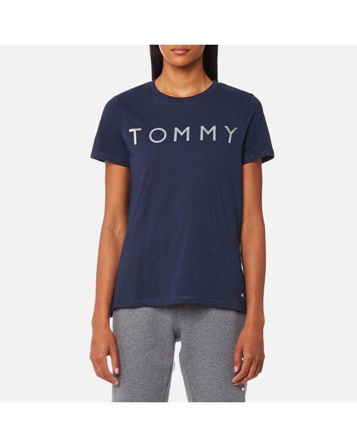 Tommy Hilfiger | Blue Tommy Print T-shirt | Lyst