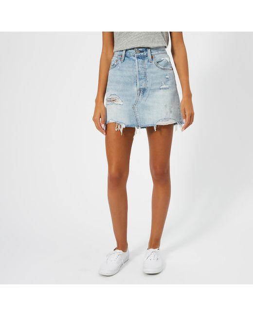 Levi's - Blue Deconstructed Skirt - Lyst