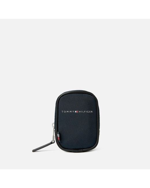 Tommy Hilfiger Blue Elevated Nylon Clip Pouch for men