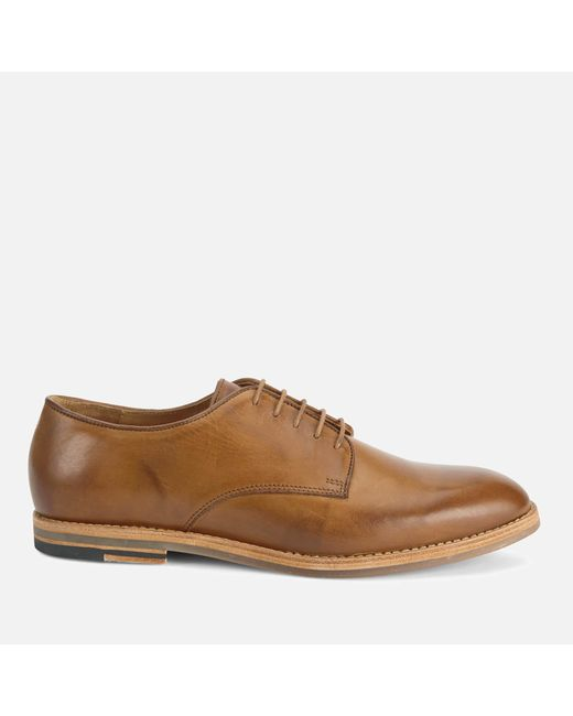 H by Hudson - Brown Men's Hadstone Leather Plaintoe Shoes for Men - Lyst