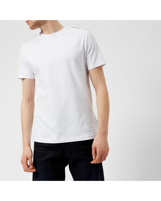 Aquascutum - White Southport Cc Shoulder Short Sleeve T-shirt for Men - Lyst