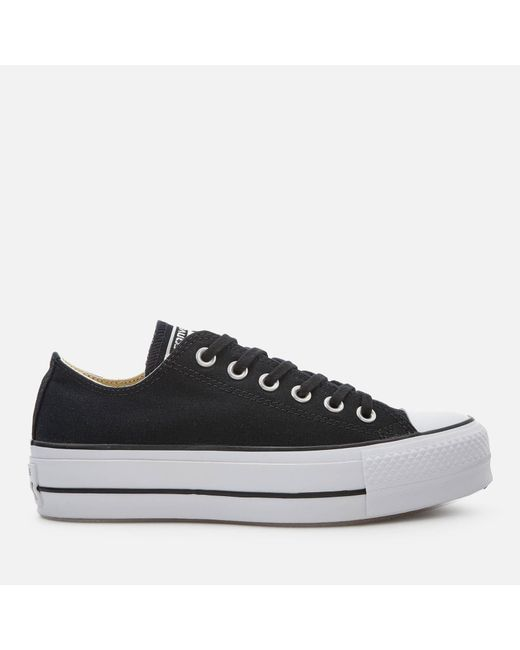 314db7c4bf5a Converse Chuck Taylor All Star Lift Ox Trainers in Black - Save 50 ...