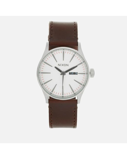 Nixon - Multicolor The Sentry Leather Watch for Men - Lyst