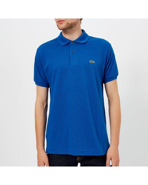 8d977ea3 Lacoste - Blue Classic Fit Pique Polo Shirt for Men - Lyst ...