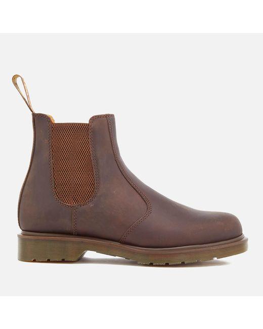 Dr. Martens - Brown Men's Core 2976 Leather Chelsea Boots for Men - Lyst