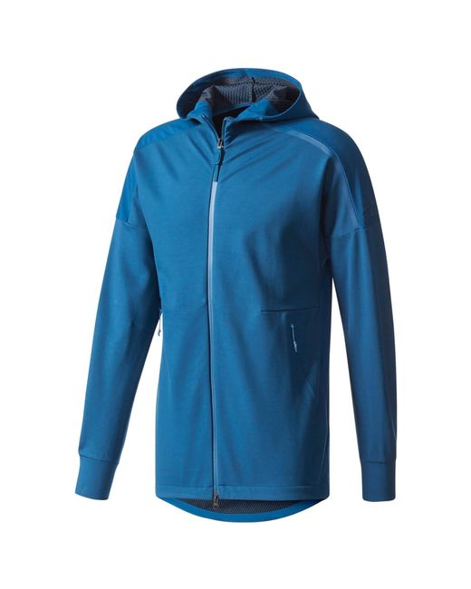 lyst adidas zne duo hoody in blue for men. Black Bedroom Furniture Sets. Home Design Ideas