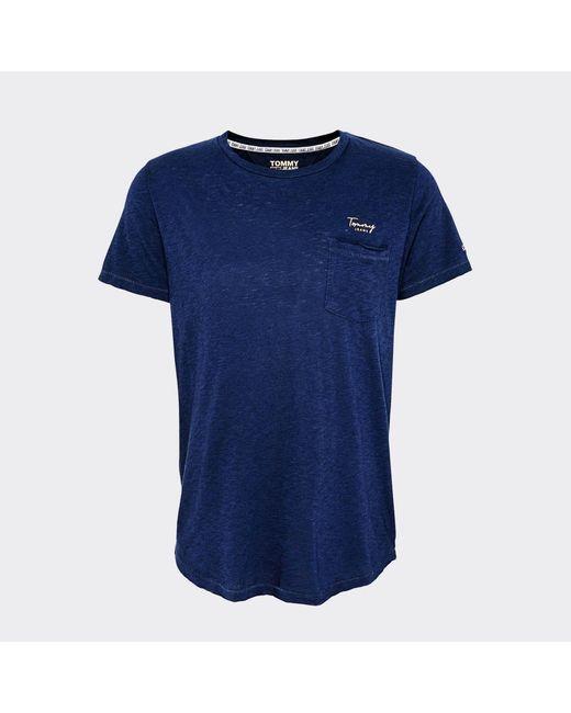 Tommy Hilfiger Blue Pocket Detail T-shirt