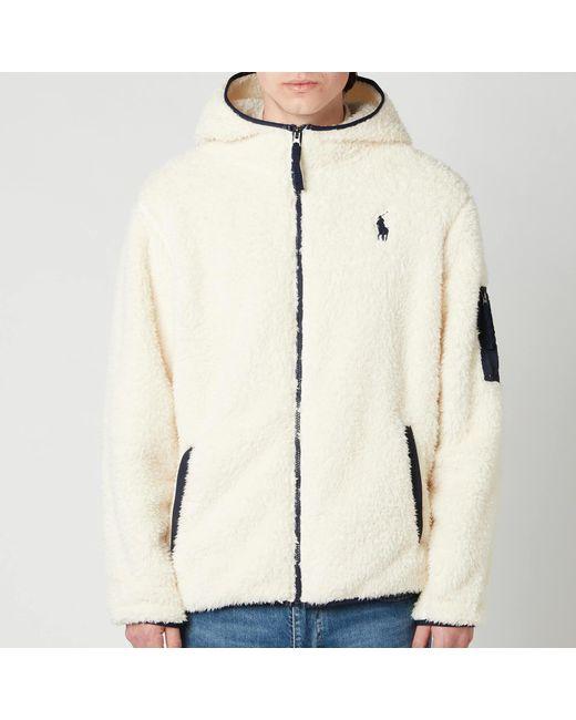 Polo Ralph Lauren Natural Curly Sherpa Full Zip Hoodie for men