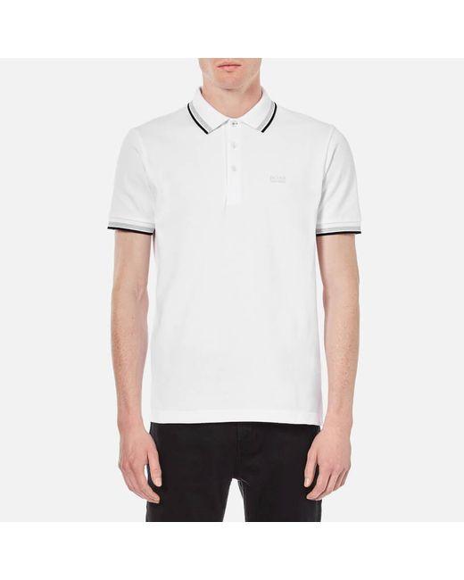 BOSS Green White Men's Paddy Basic Polo Shirt for men
