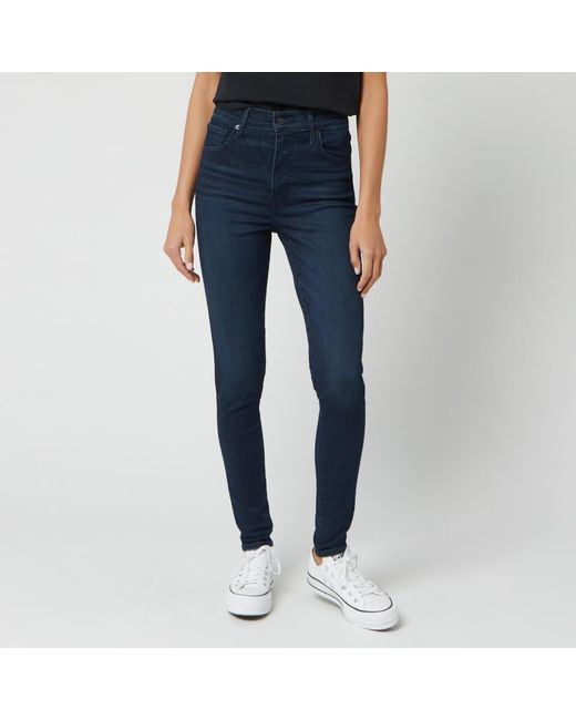 Levi's Blue Mile High Super Skinny Jeans