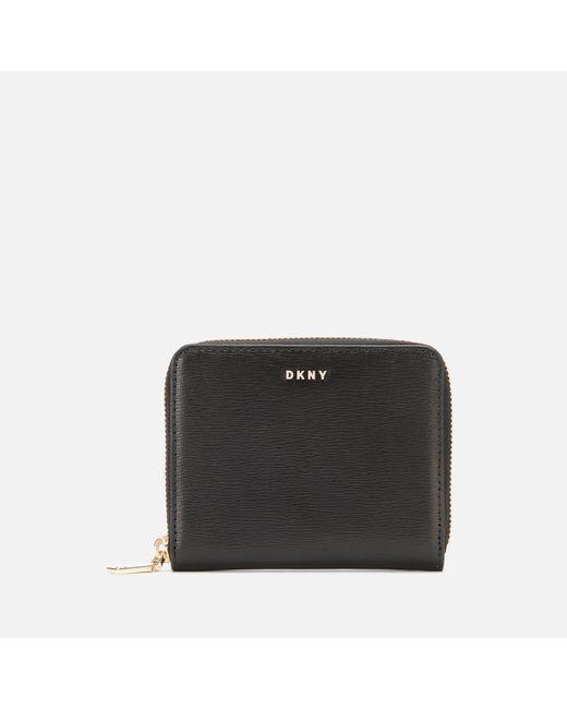 DKNY Black Bryant Small Zip Around Purse