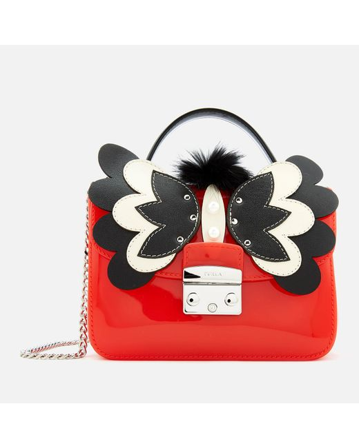 Furla - Red Candy Melita Meringa Mini Cross Body Bag - Lyst