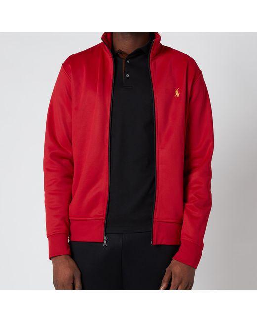 Polo Ralph Lauren Red Lux Full Zip Track Top for men