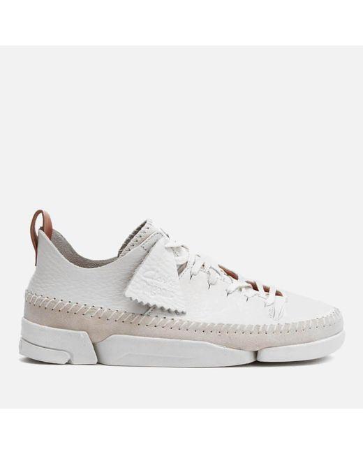 Clarks White Women's Trigenic Flex Shoes