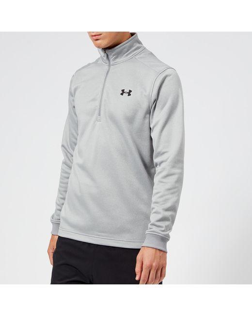 Under Armour - Gray Armour Fleece 1/2 Zip Top for Men - Lyst