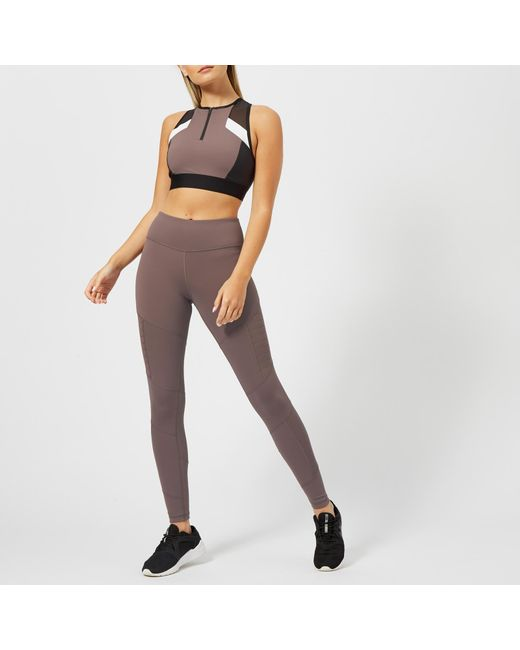64a4657634dde Lyst - Reebok Colour Block Crop Top in Gray - Save 48%
